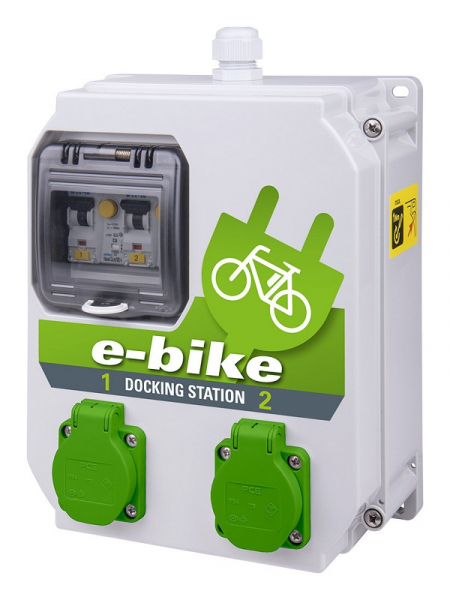 PCE E-Bike Dockingstation 2x Schuko