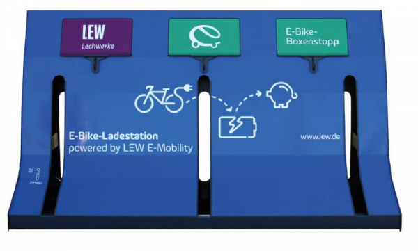 LEW E-Bike-Ladestation - Designbeispiel
