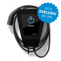 """Meine smarte Wallbox"" BLACK EDITION by energielösung (bis 11 kW) mit Typ 2-Ladekabel"